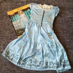 NEW ALICE IN WONDERLAND DISNEY DRESS COSTUME S 4 6